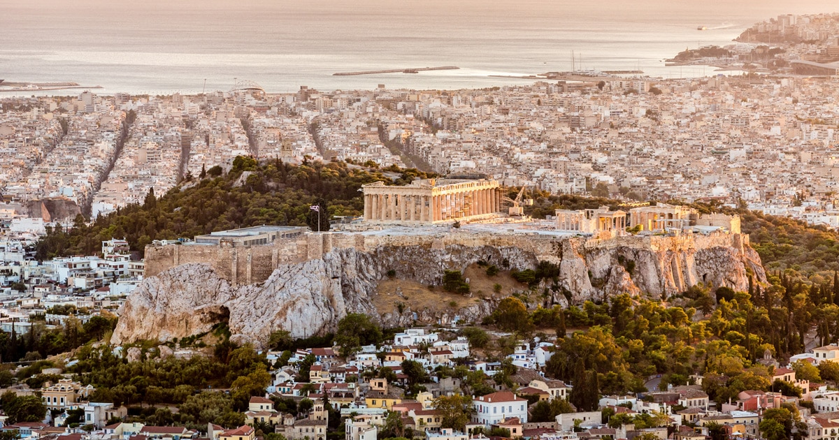 Aeral view of Athens, Greece
